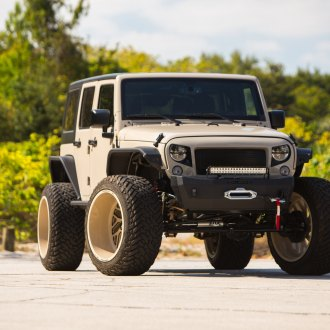 Mean-looking Jeep Wrangler Unlimited With Off-road Mods and Fuel Wheels