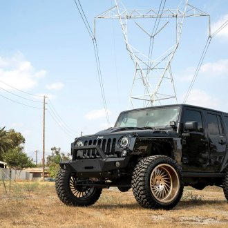 Mysterious Appearance of Lifted Jeep Wrangler Put on Bronze Forgiato Wheels