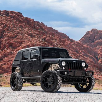 All Black Custom Jeep Wrangler Lifted and Fitted with Black Forgiato Wheels