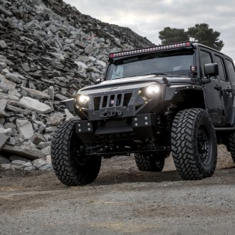 Big Chief: Black Jeep Wrangler Enhanced by Fab Fours