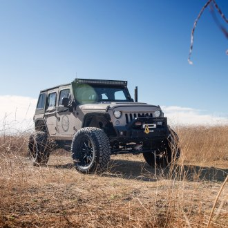 Facelifted Bossy Gray Jeep Wrangler