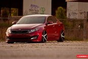 Stanced Out Kia Optima With Air Suspension and Custom Wheels