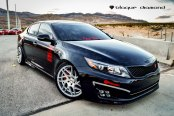 2014 kia optima accessories parts at carid eye catching black debadged kia optima with red accents publicscrutiny Gallery