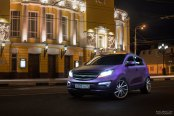 Custom Kia Sportage Featuring Matte Purple Paint