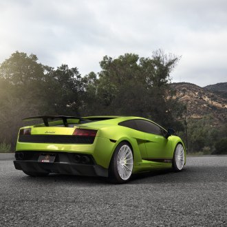 Rear Wing Spoiler On Green Lamborghini Gallardo   Photo By Zito Wheels