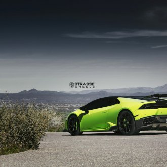 Exceptionnel Large Wing Spoiler On Lime Green Lamborghini Huracan   Photo By Strasse  Forged