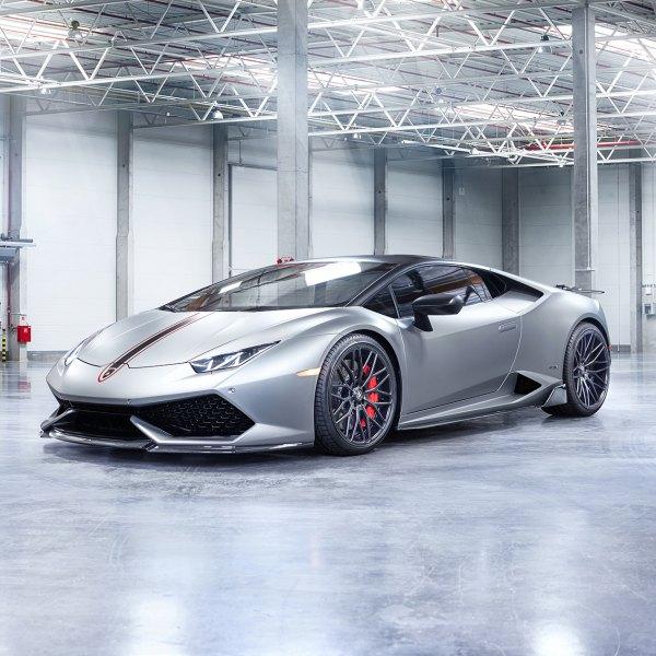 Gray Lamborghini Huracan With Carbon Fiber Front Lip   Photo By Vorstiner