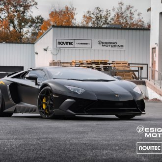 Dark Smoke Headlights On Black Lamborghini Huracan   Photo By Vossen