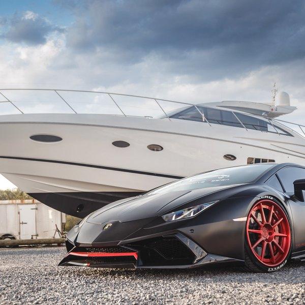Black Lamborghini Huracan With Pirelli Tires   Photo By Rennen International
