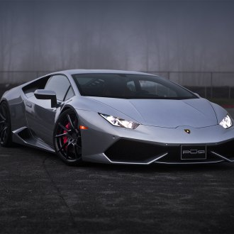 Gray Lamborghini Huracan With Crystal Clear Headlights   Photo By PUR Wheels