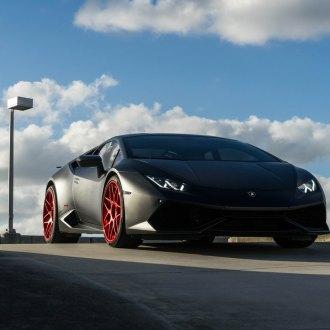 Black Lamborghini Huracan With Red Custom Rims   Photo By Avant Garde