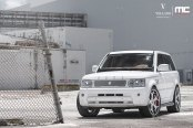 Revised and Awesome Front End of White Range Rover Sport
