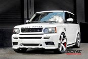 Properly Modified White Range Rover Sport