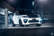 White Range Rover Sport Gets Blacked Out Body Elements for Aggressive Look
