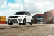 Extremely Charming White Range Rover Gets Sportier With Contrasting Body Accents