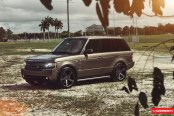 Bold Custom painted Range Rover With Aftermarket Wheels