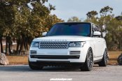 Chrome Mesh Grille Gives White Range Rover a Royal Look