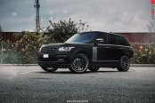All Black Range Rover Gets a Distinctive Look with Front Bumper and Fog Lights