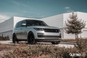 Threatening Look of Gray Range Rover Highlighted by Vossen Wheels