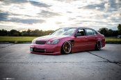 Slammed and Extremely Stylish Custom Purple Lexus GS on Custom Painted Rims