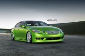 Lime Green Lexus GS Stanced Out and Enhanced with Aftermarket Goodies