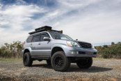 Ready to Go Offroad: Gray Lifted Lexus GX on Black Rhino Wheels