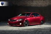 Stylish Transformation of Red Lexus IS
