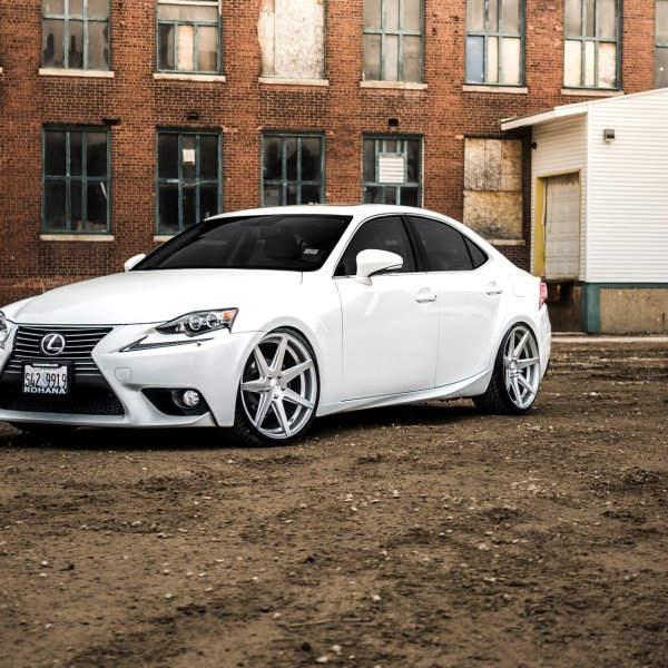 Front Bumper with Fog Lights on White Lexus IS  - Photo by Rohana Wheels