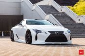 Custom Body Kit Transforms Stanced Lexus LC with Style