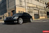 Lowered Suspension and Vossen Custom Rims for Lexus LS