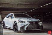 Well Built Sedan: Lexus LS Boasting Custom Wheels and Contrasting Body Accents