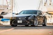 Forged Vossen Rims Looking Modern on Black Lexus LS