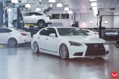 Stylish Transformation of White Lexus LS