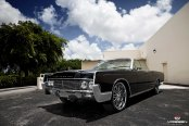 Fascinating Classic Lincoln Continental Enriched by Chrome Vossen Forged Wheels