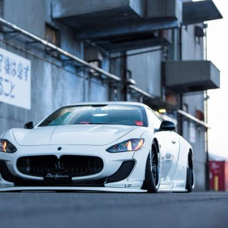 Maserati Granturismo With A Liberty Walk Wide Body Kit - Photo by Vossen