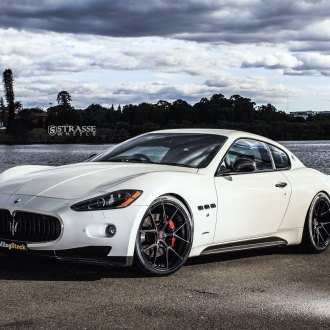 Exotic Appearance of White Maserati Granturismo on Carbon Fiber Rims
