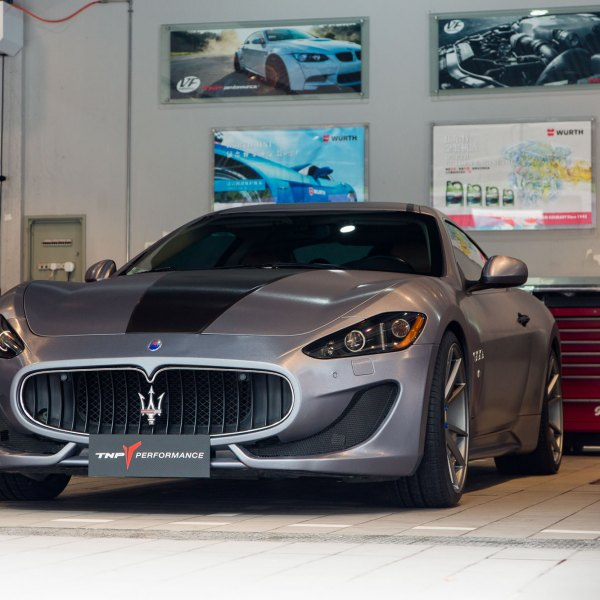 Custom Maserati Granturismo with LED Headlights - Photo by Vossen