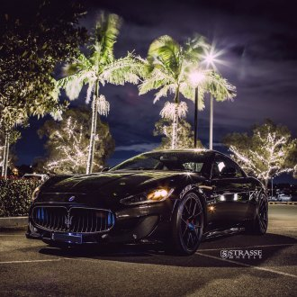 Elegance Doesn't Get Better than this Black Maserati Granturismo