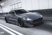 Revised Front End of Magnificent Gray Maserati Granturismo
