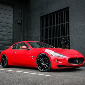 Red Maserati Granturismo with Custom Chrome Grille - Photo by Vossen