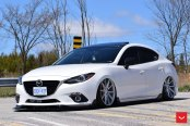 White Stanced Mazda 3 Make Over
