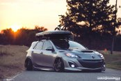 Gray Mazda 3 Goes Low and Gets Custom Body Kit
