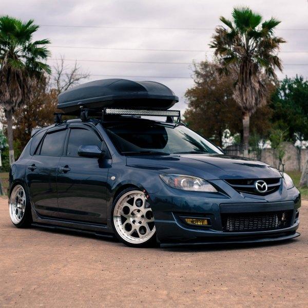 Custom Black Mazda 3 With Roof Rack   Photo By Avant Garde Wheels