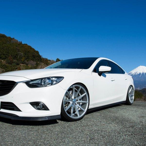 2014 mazda 6 custom. white mazda 6 with carbon fiber front lip spoiler photo by vossen 2014 custom