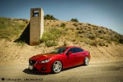 Drool Car: Candy Red Mazda 6 on Silver Blaque Diamond Wheels
