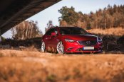 Red Mazda 6 Sporting Silver Machined JR Wheels