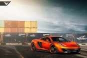 Orange McLaren 12C Tuned and Sitting on Color- Matched Rims