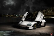 White McLaren 720S Appears Gorgeous with Vertical Doors