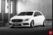 Modest Exterior Upgrades for White Mercedes A Class