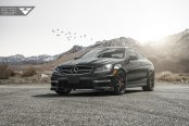 Spruced Up Black Mercedes C Class
